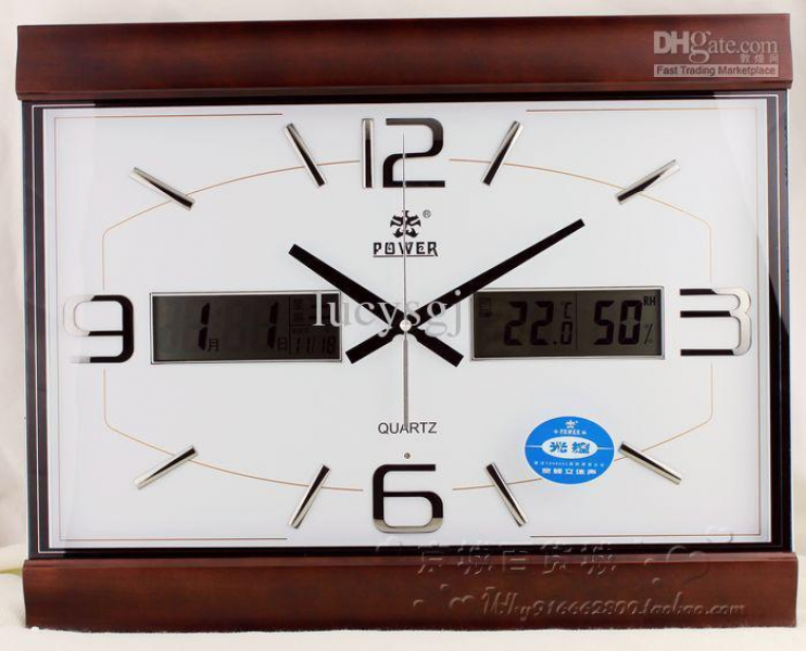 Overlooks Watches And Clocks Solid Wood Wall Clock Large Square Clock ...
