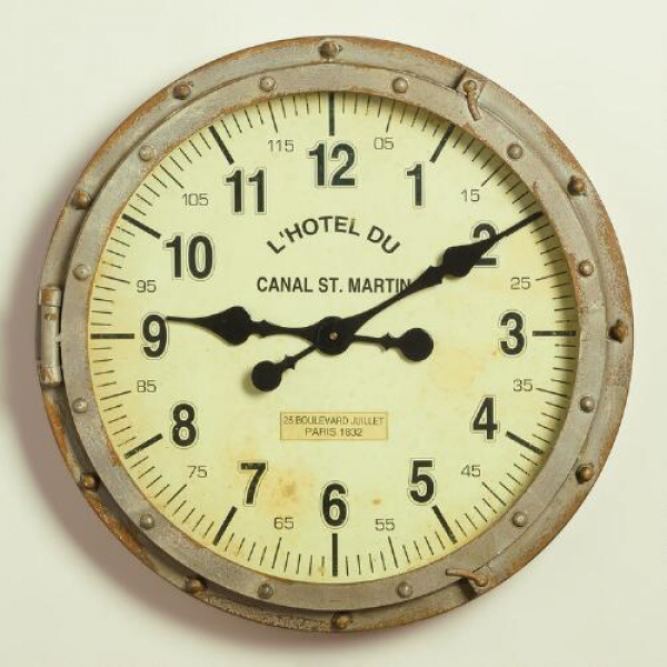 Metal Rivet Bryce Wall Clock | World Market