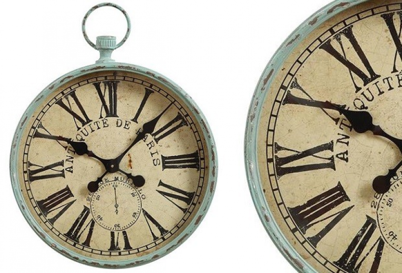 Pocket Watch Wall Clock | Large Wall Clock Antique Farm House