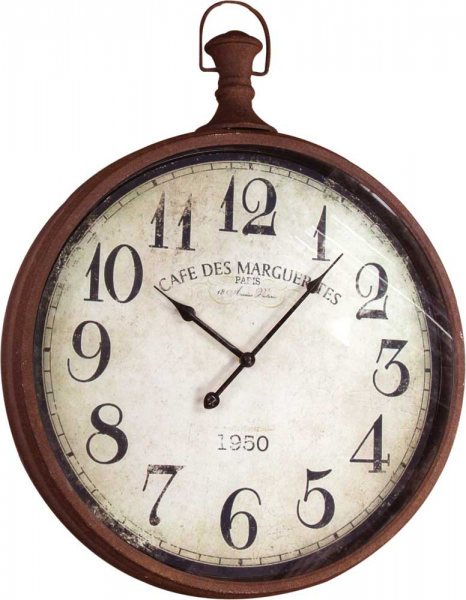 Pocket Watch Wall Clock Large by Manual Woodworkers & Weavers - Metal ...