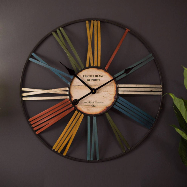 Large Rustic Metal Wall Clocks Clocks WWW