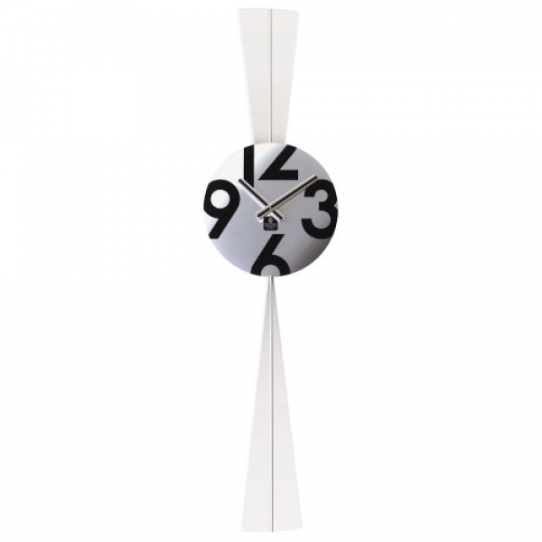 CUPECOY DESIGN Stainless Steel Round Pendulum Wall Clock