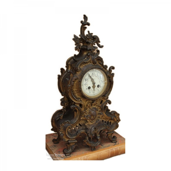 ... Antique Mantel/Wall Clocks > Antique French Louis XV Bronze Mantel