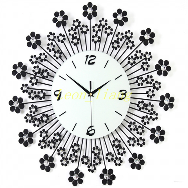 ... Modern Continental Iron Art Metal Wall Clock Living Room Home Decor