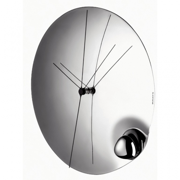 Aqua Polished Stainless Steel Wall Clock by Bugatti