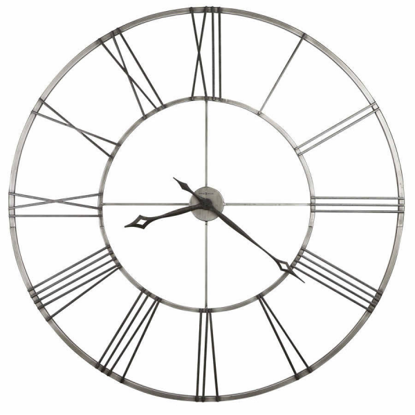 49 large wrought-iron wall clock aged nickel Howard Miller 625472