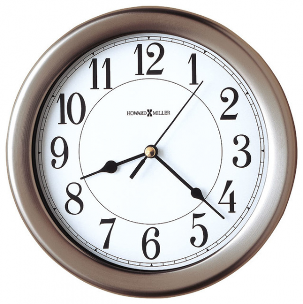 Brushed Nickel 12 Hour Wall Clock with Lockin - Contemporary - Wall ...