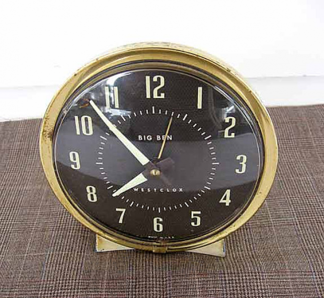 Vintage 1960's Big Ben Westclox Wind Up Alarm Clock, Metal, Working ...