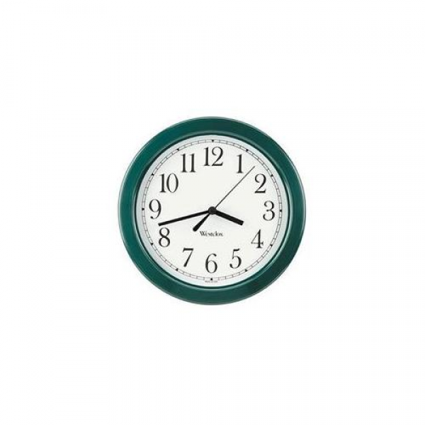 Westclox 46072 8 Inch Simplicity Wall Clock - Hunter Green: Decor ...
