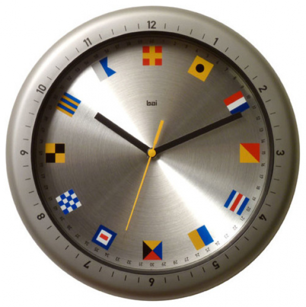 ... Aquamaster Waterproof Wall Clock with Nautical Flags modern-clocks
