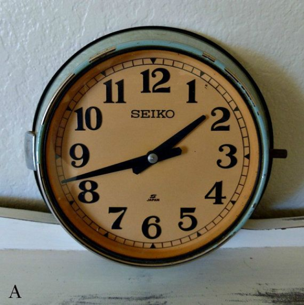 Vintage Metal Seiko Wall Clock Home Decor by VintageStreetDesigns, $34 ...