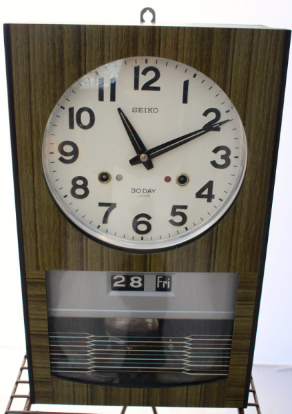 Vintage Mid Century Seiko 30 Day Wall Clock by LuckySevenVintage