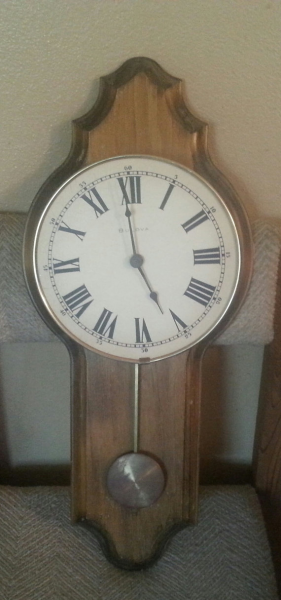 Vintage Bulova C3422 Wall Clock Mounted On Wood- Please Read Below For ...