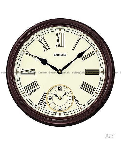 CASIO IQ-65 analogue wall clock classic dual time (end 7/13/2016 4:19 ...