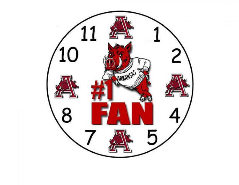 Arkansas Razorbacks Handmade wall Clock...new...we make any clock of ...