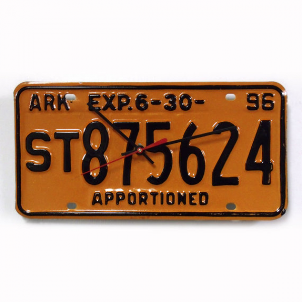 Arkansas License Plate Clock - AR License Tag Wall Clock - Recycled ...