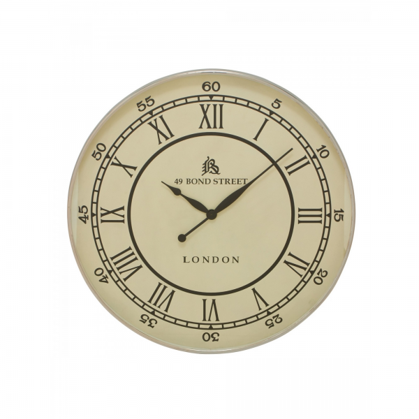 Benzara - Classic And Timeless Stainless Steel Wall Clock