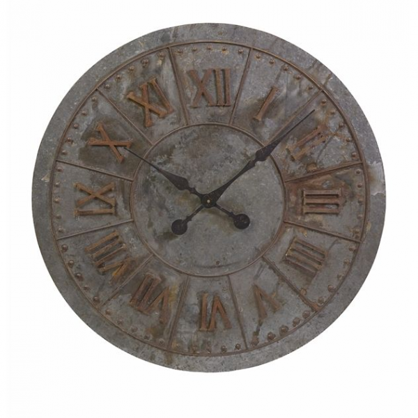 Home Decor Clocks 32 Distressed Oversize Industrial Style Roman ...