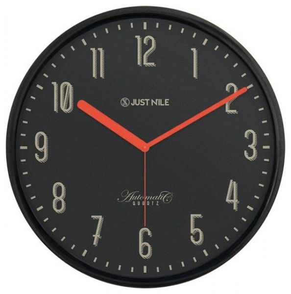... Classic Wall Clock - Black 13 Black Frame/Red Hands contemporary-wall