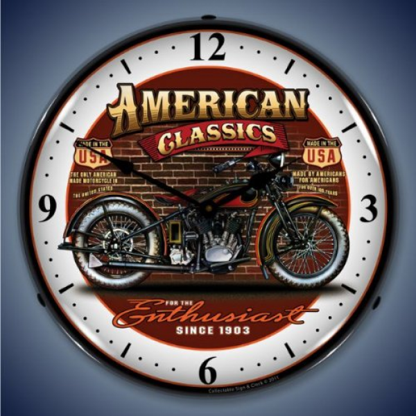 Collectable Sign and Clock SM1103302 14 American Classic Bike Lighted ...