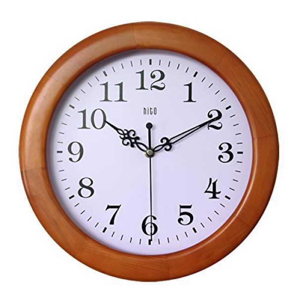 ... Hand Dark Brown Solid Oak Case: Modern Wall Clocks - TOP-CLOCKS.COM