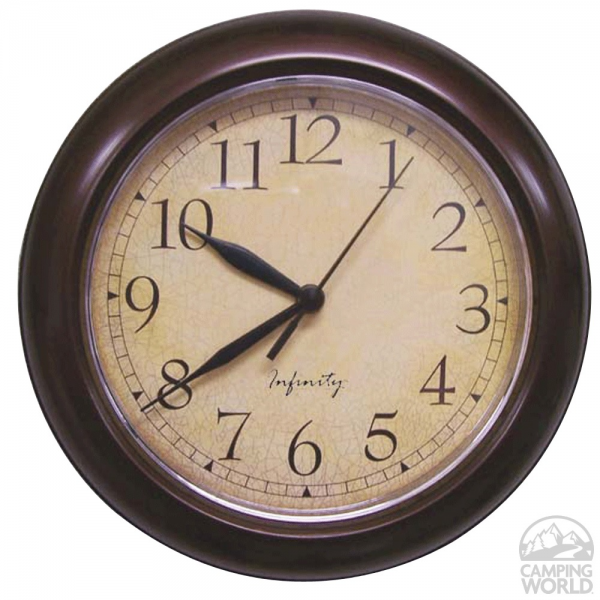 Infinity Round Quartz Wall Clock - ITC 32000TF-CF-D - Furnishing ...