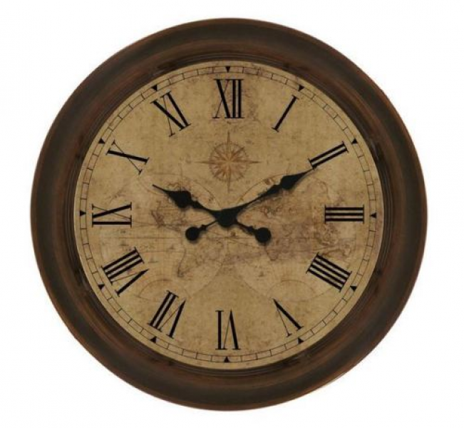 Old-World-Design-Large-18-Wall-Clock-Oil-Rubbed-Bronze-Quartz-Movement ...