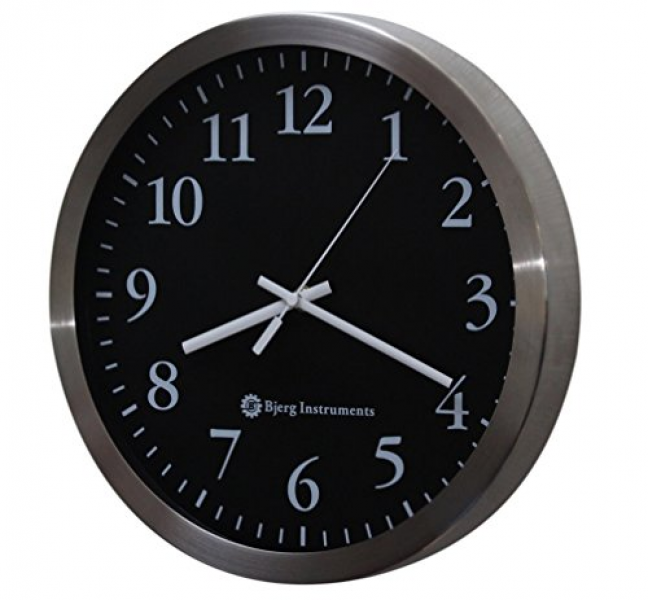 Bjerg Instruments Modern 12 Stainless Silent Wall Clock with Non ...