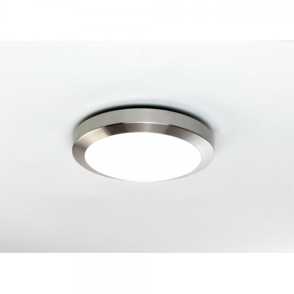 ... » Astro 0674 Dakota 1 Light IP44 Wall/Ceiling Light Brushed Nickel
