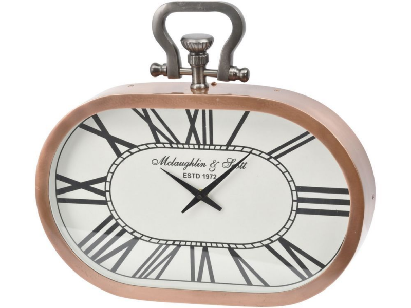... clock | copper wall clock | copper metal clock | oblong wall clock