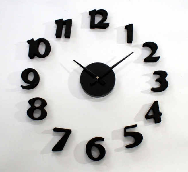 Modern Number Metal Wall Clock Photo, Detailed about Modern Number ...