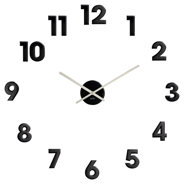 Outline Black Numbers Wall Clock - Modern.co.uk