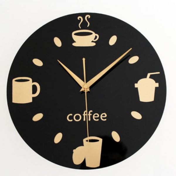 kitchen utensil clock casual restaurant coffee cup wall clock | unique ...