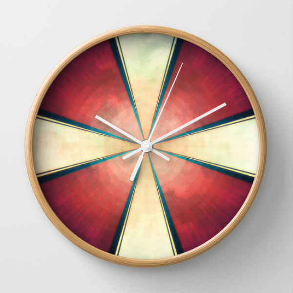 Casual/Geometric Wall Clock by Thinschi | Society6