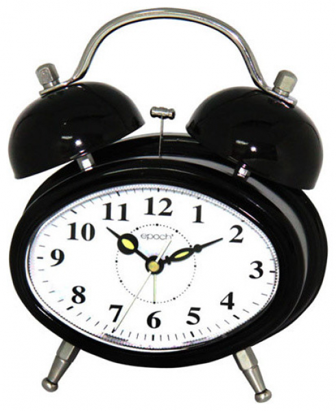 Black Oval Dual Double Bell/Electronic Alarm Clock - Modern - Clocks ...