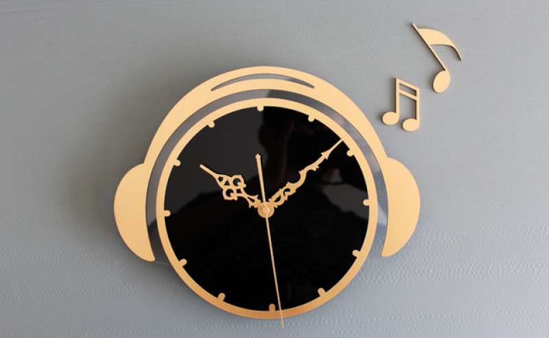 12.5H Fashion Acrylic Wall Clock - GOLDEN - Modern - Wall Clocks ...