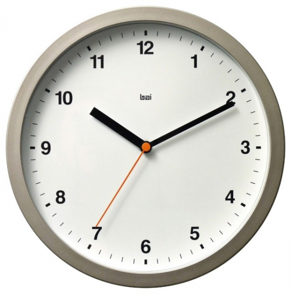 ... Designer Helio White 10 Wide Modern Wall Clock contemporary-clocks