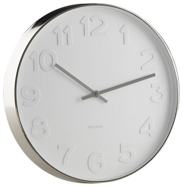 Embossed Numbers Wall Clock in Clocks - Contemporary - Clocks - by ...