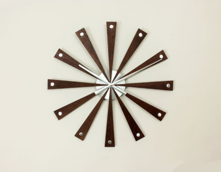 Modern Wood Wall Clock - Contemporary - Clocks - by Bellacor