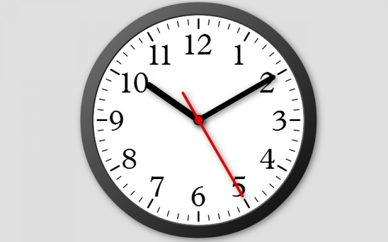 modern analog clock modern analog clock with second arrow based on ...