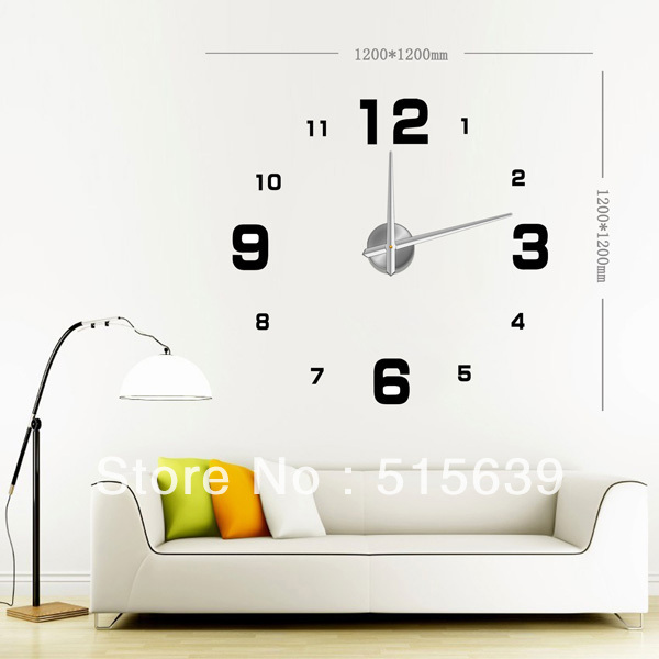 Aliexpress.com : Buy DIY Large Frameless Wall Clock Modern Design Home ...
