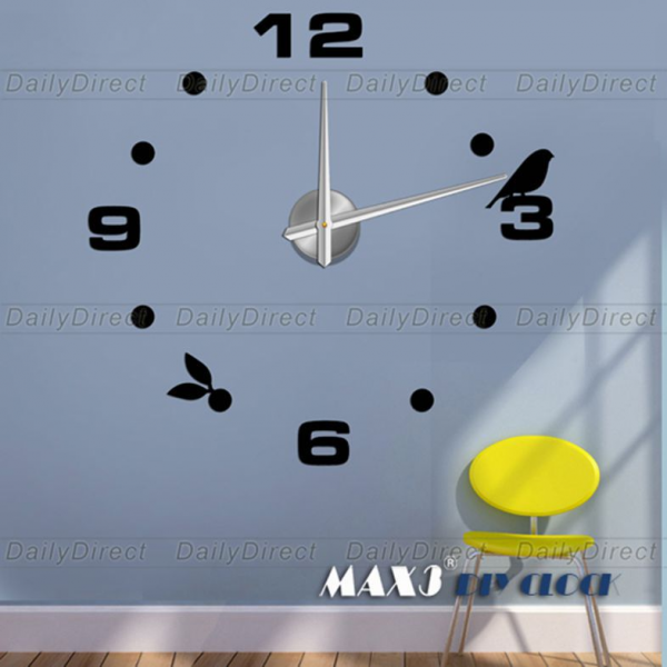 .com : Buy 1x Wholesale Large Frameless DIY Wall Stickers Clock ...