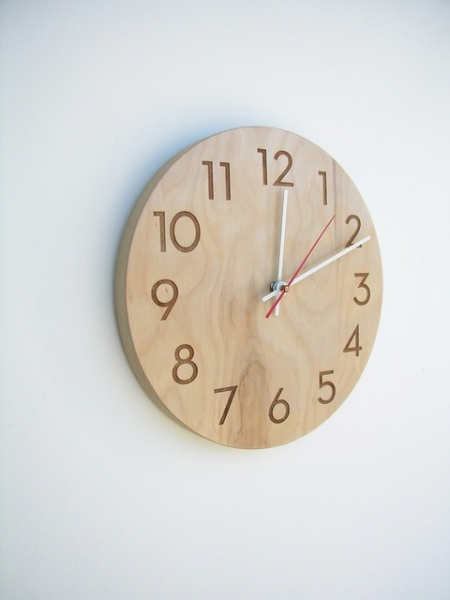 Modern Wood Wall Clock by Uncommon Handmade - Modern - Clocks - by ...