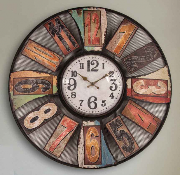 ... Clock 23.5 by Manual Woodworkers & Weavers - Open Face Wall Clocks
