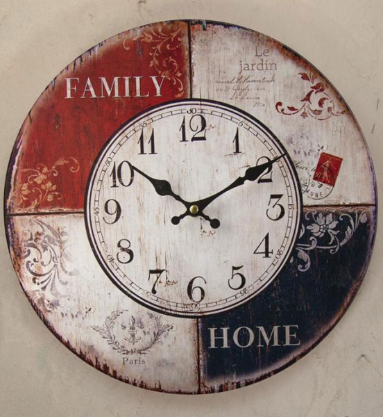 Family Wall Clock by Manual Woodworkers & Weavers - 13 Wall Clocks