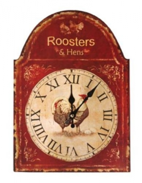 Manual Woodworkers & Weavers Roosters and Hens Distressed Look Wall ...