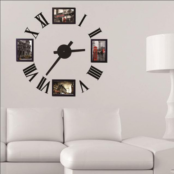 wall clock Modern design,Rome number decorative designer wall sticker ...