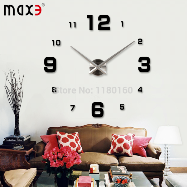 mirror Arabic numbers wall stickers clock,unique home decor decor ...
