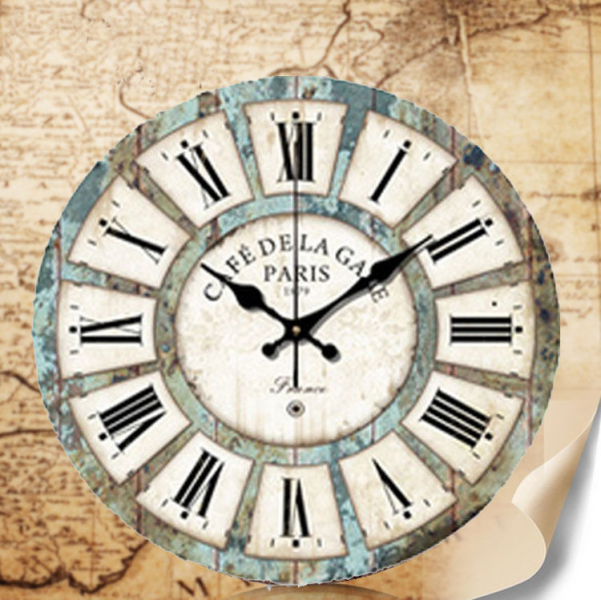 14 Home Decor Wall Clock Large Vintage Retro Art Style Antique France ...