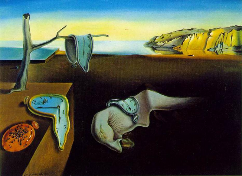 Why Do Sociopaths Waste (Our) Time? » Dali clock melting clocks